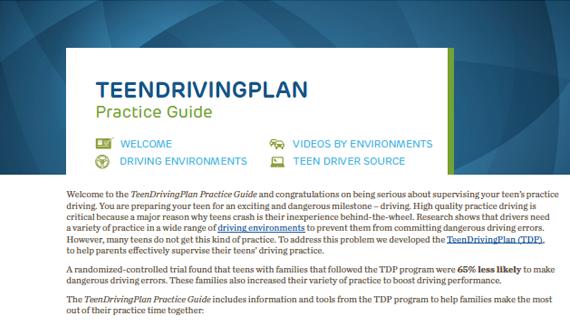 TeenDrivingPlan Practice Guide PDF